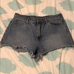 Articles of Society Light Washed Jean Shorts